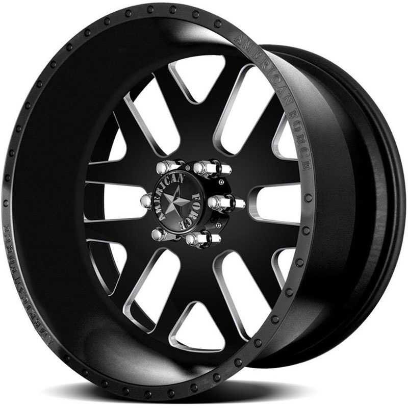 American Force BAUS SS6  Wheels Black Textured-Machined Windows
