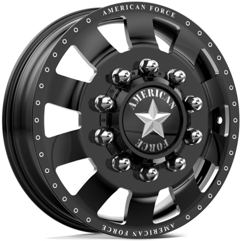 American Force Dually BOLT  Wheels Black Flat-Solid
