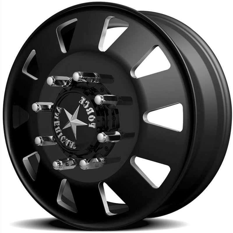 American Force Dually BOLT  Wheels Black Textured-Machined Windows