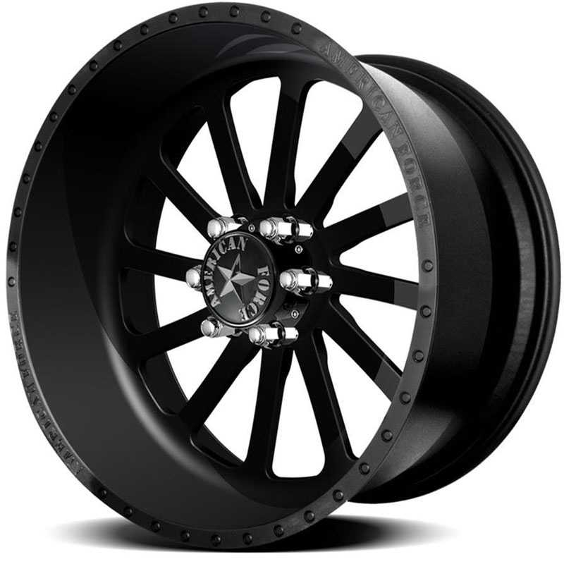 American Force BURNOUT SS8  Wheels Black Flat-Solid