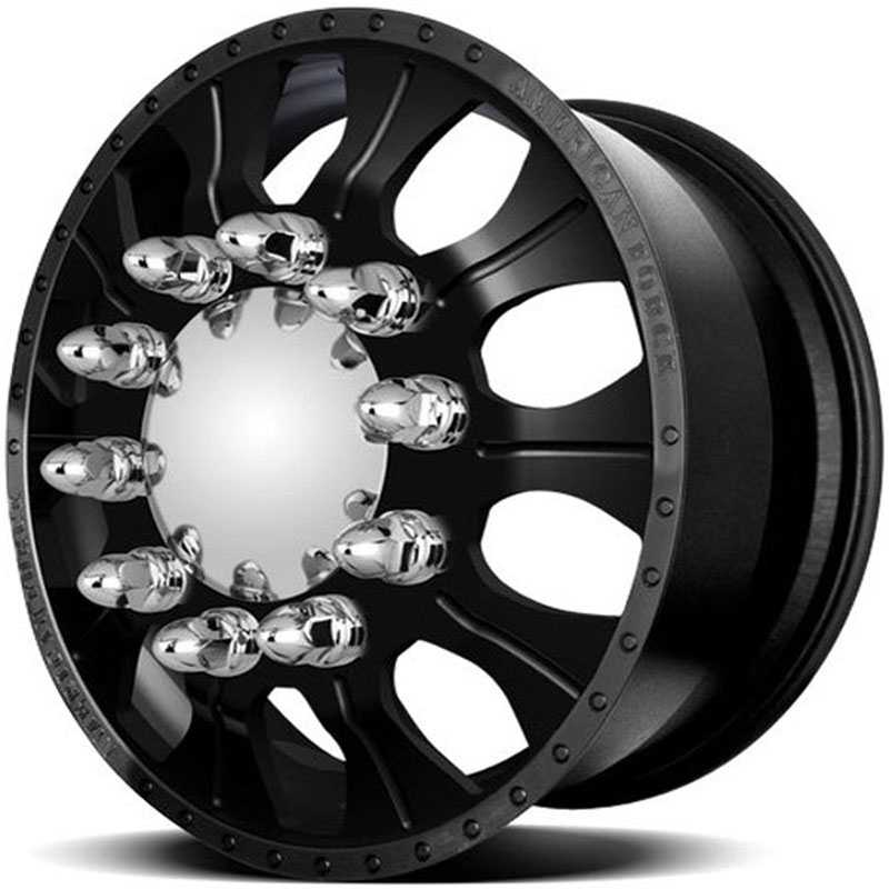 American Force Dually COMBAT  Wheels Black Flat-Machined Windows