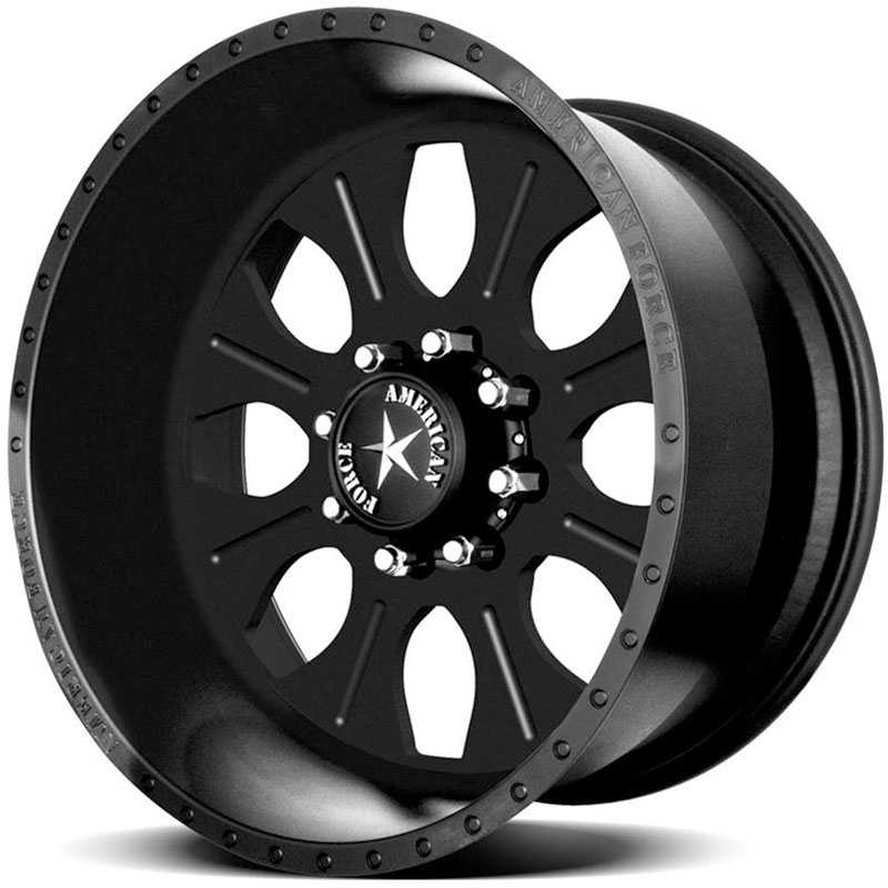 American Force COMBAT SS8  Wheels Black Flat-Solid
