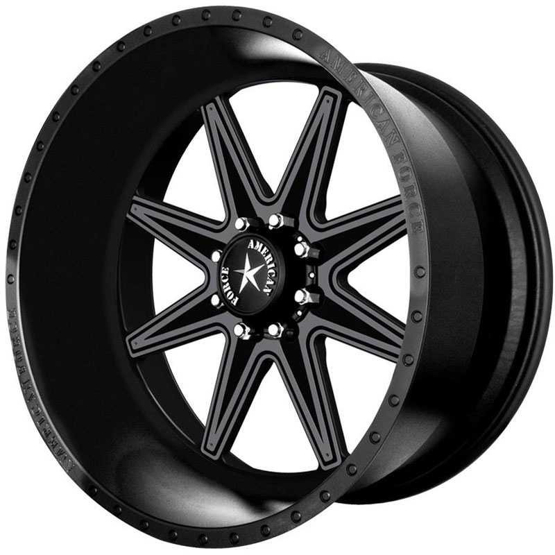 American Force EVADE FP8  Wheels Black Flat-Solid