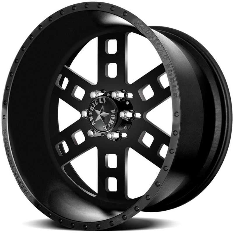 American Force FUSION SS6  Wheels Black Flat-Machined Windows