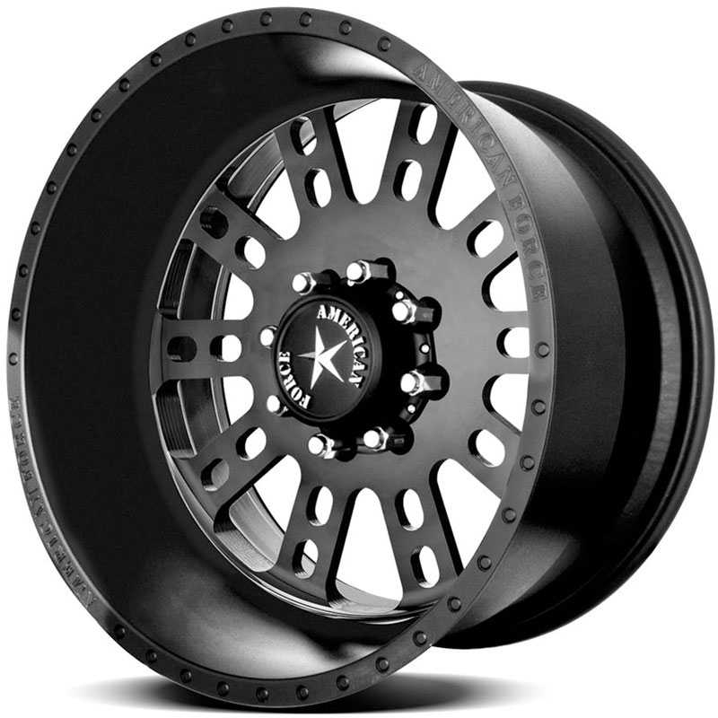 American Force FUSION SS8  Wheels Black Flat-Solid