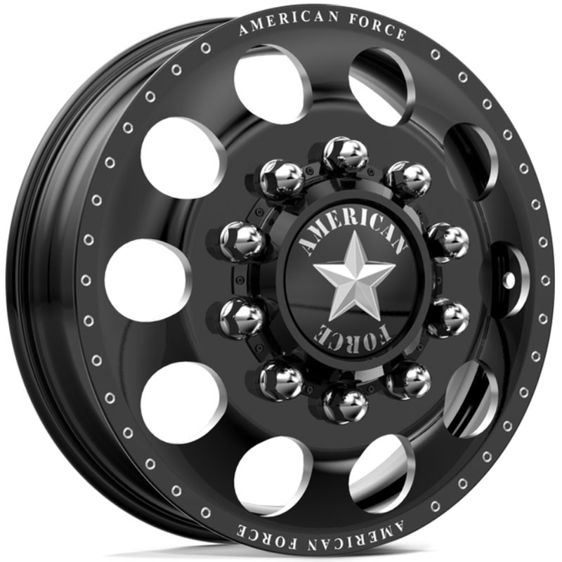 American Force Dually HOLES  Wheels Black Flat-Solid