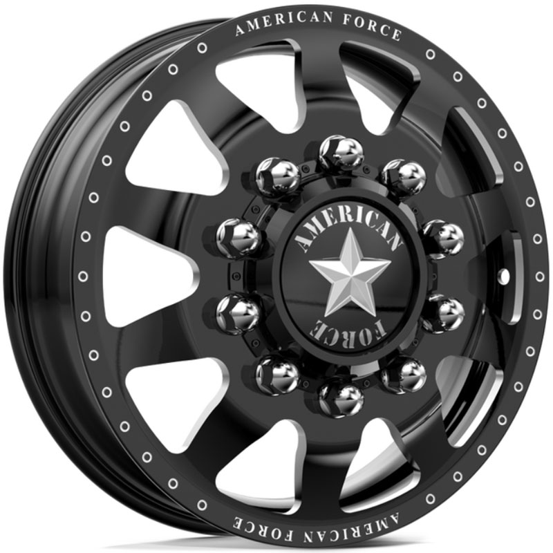 American Force Dually INDEPENDENCE  Wheels Black Flat-Solid