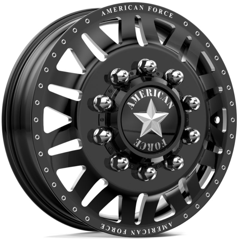 American Force Dually LIBERTY  Wheels Black Flat-Solid