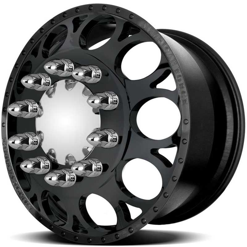 American Force Dually MAGNUM  Wheels Black Textured-Machined Windows