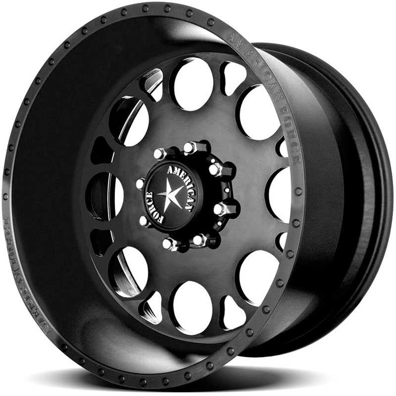 American Force MAGNUM SS8  Wheels Black Flat-Solid