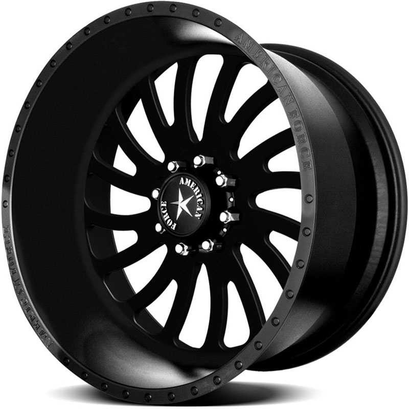 American Force OCTANE SS8  Wheels Black Flat-Solid