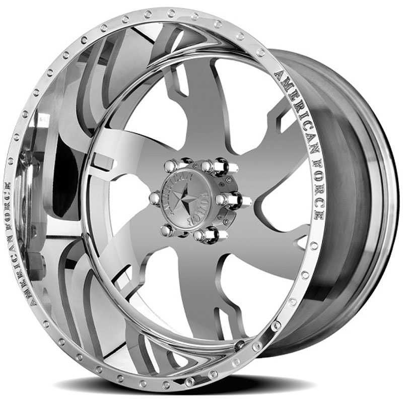 22x10 American Force Wheels RAPTOR SS6 Mirror Finish Polish REV
