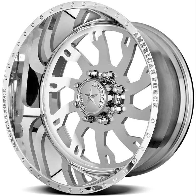 24x14 American Force Wheels RAPTOR SS8 Mirror Finish Polish REV