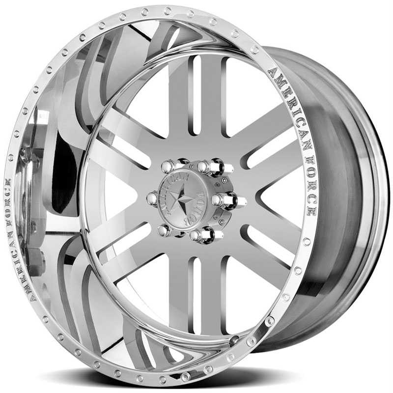 22x11 American Force Wheels REBEL SS6 Mirror Finish Polish RWD