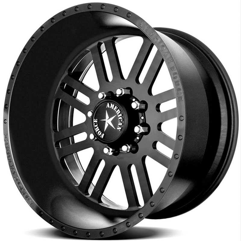 American Force REBEL SS8  Wheels Black Flat-Solid