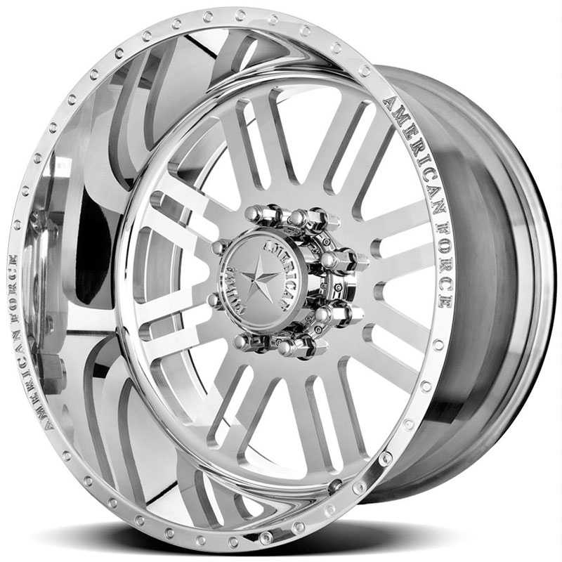 22x14 American Force Wheels REBEL SS8 Mirror Finish Polish REV
