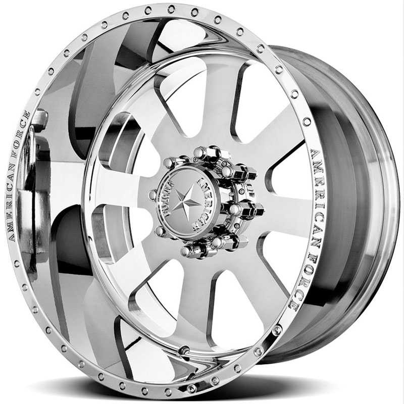 20x10 American Force Wheels RECON SS8 Mirror Finish Polish REV