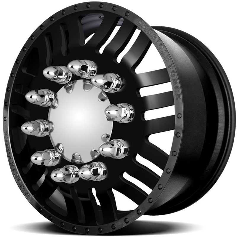 American Force Dually RUSH  Wheels Black Textured-Machined Windows