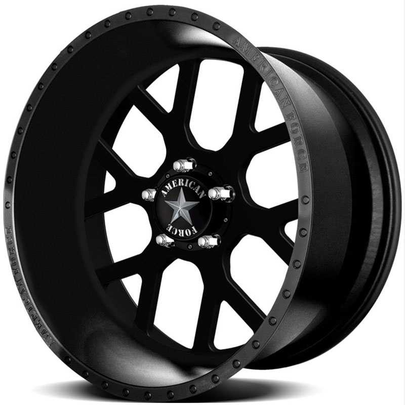 American Force SHIELD SS5  Wheels Black Flat-Solid