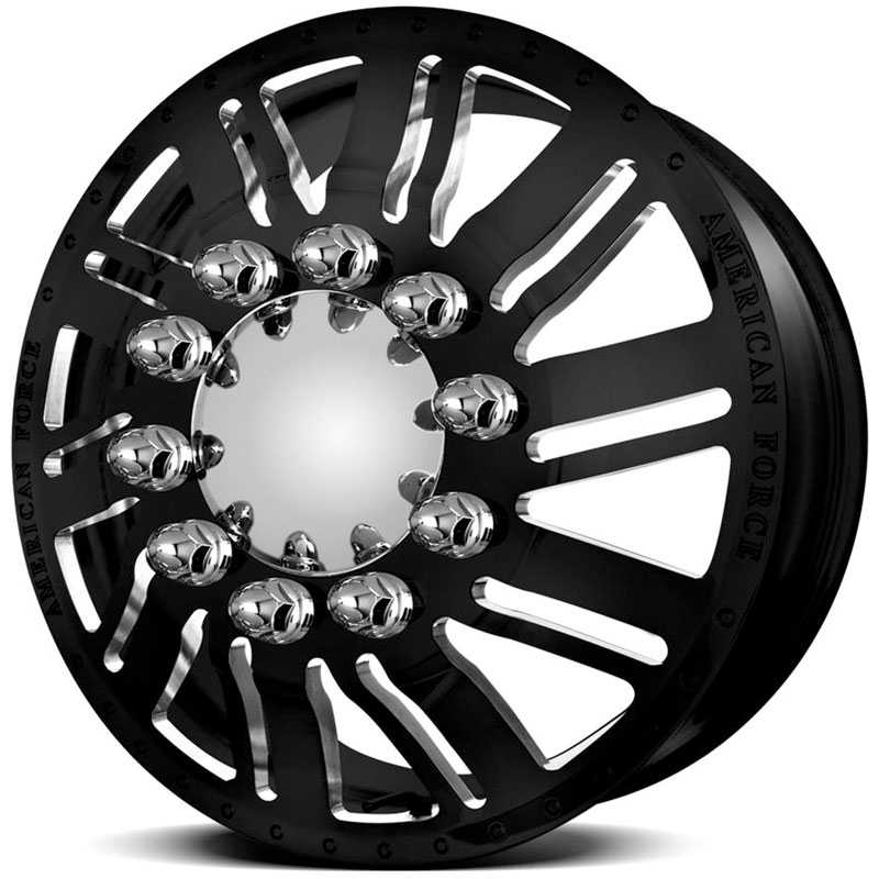 American Force Dually SHIFT  Wheels Black Textured-Machined Windows