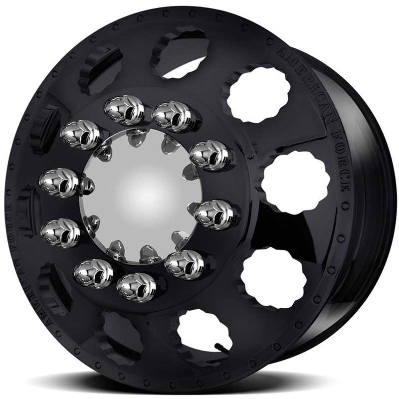 American Force Dually SNAP  Wheels Black Textured-Machined Windows