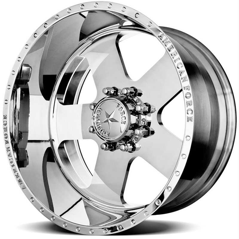 20x14 American Force Wheels TARGET SS8 Mirror Finish Polish REV