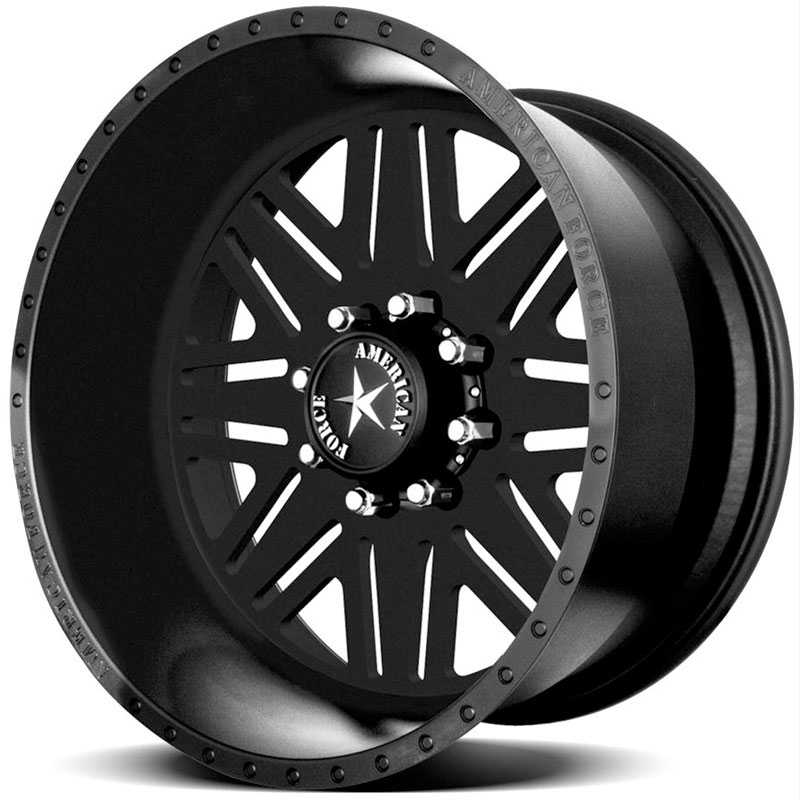 American Force TITAN SS8 Black Flat-Solid
