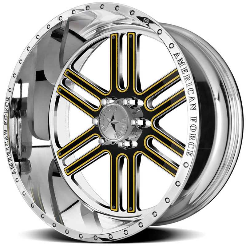 20x12 American Force Wheels VECTOR FP6 Mirror Finish Polish REV