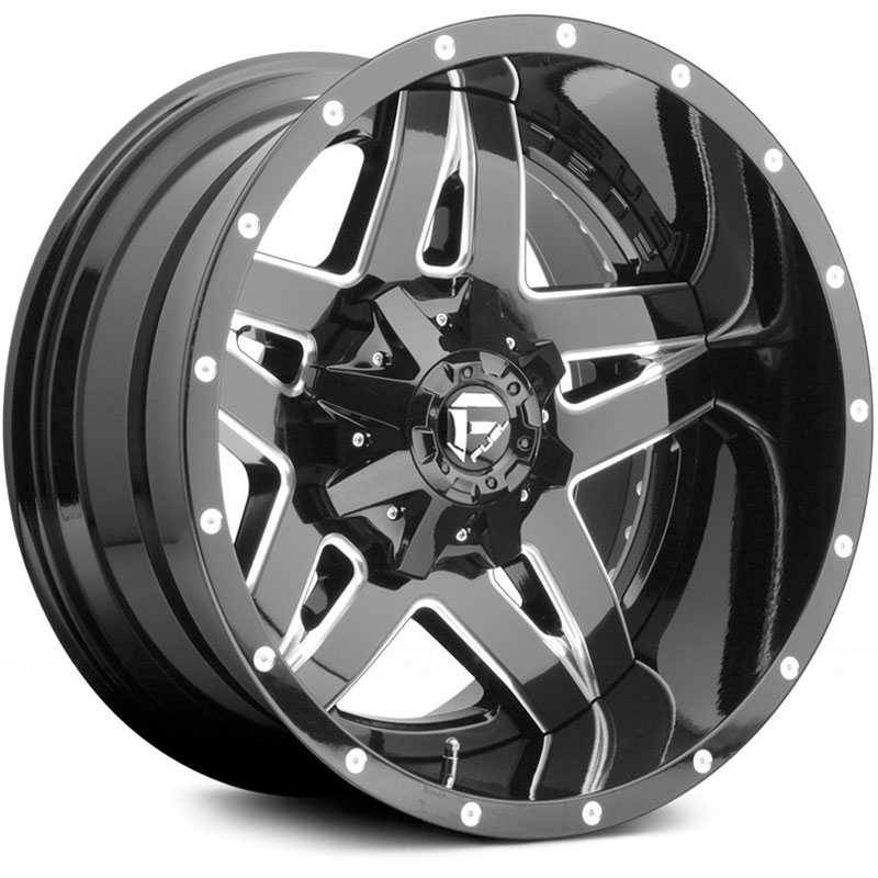 Fuel D254 Full Blown  Wheels Black Milled