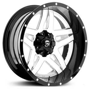 Fuel D255 Full Blown  Wheels White Milled