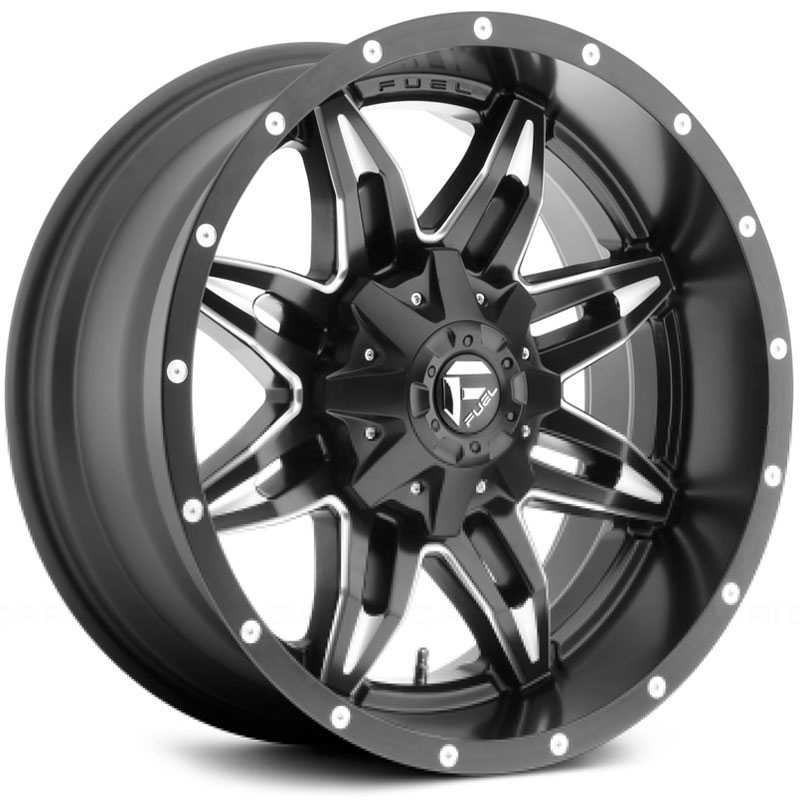 Fuel D567 Lethal  Wheels Black Milled