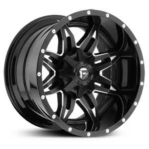 Fuel D267 Lethal  Wheels Black Milled