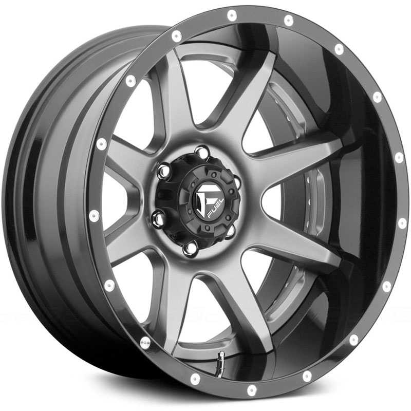 Fuel D238 Rampage  Wheels Gunmetal Matte