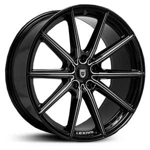 Lexani CSS-10  Wheels Gloss Black/CNC Milling Accents