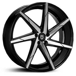 Lexani CSS-7  Wheels Gloss Black Machined
