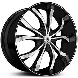 Lexani Lust  Wheels Gloss Black Machined w/ Deep Lip