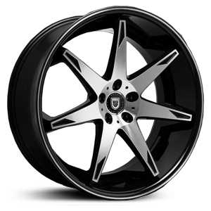 Lexani R-14 Fourteen  Wheels Gloss Black Machined
