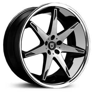 Lexani R-14 Fourteen  Wheels Gloss Black Machined w/ SS Lip