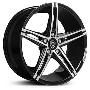 Lexani R-3 Three  Wheels Gloss Black Machined