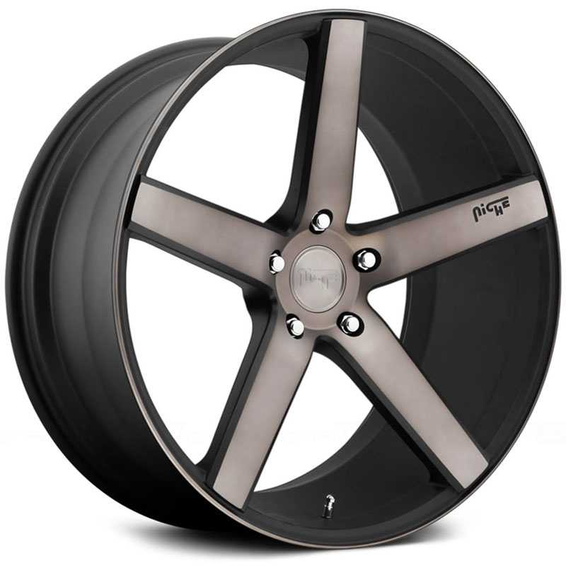 Niche M134 Milan  Wheels Black Machined Dark Tint DDT