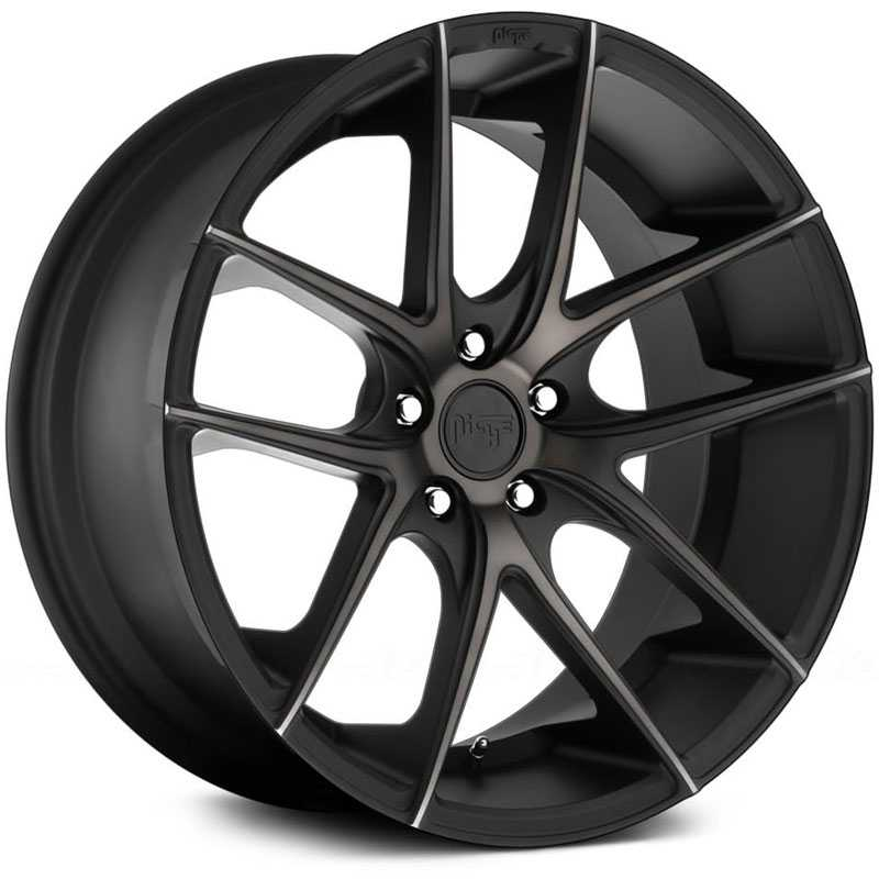 Niche M130 Targa  Wheels Black Machined