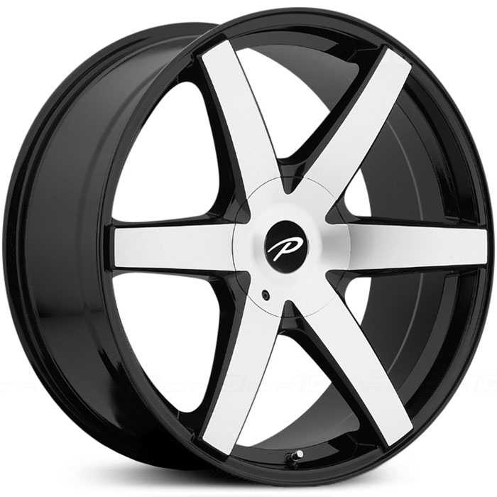 Pacer 785MB Ovation  Wheels Mirror Machined Face with Gloss Black Accents