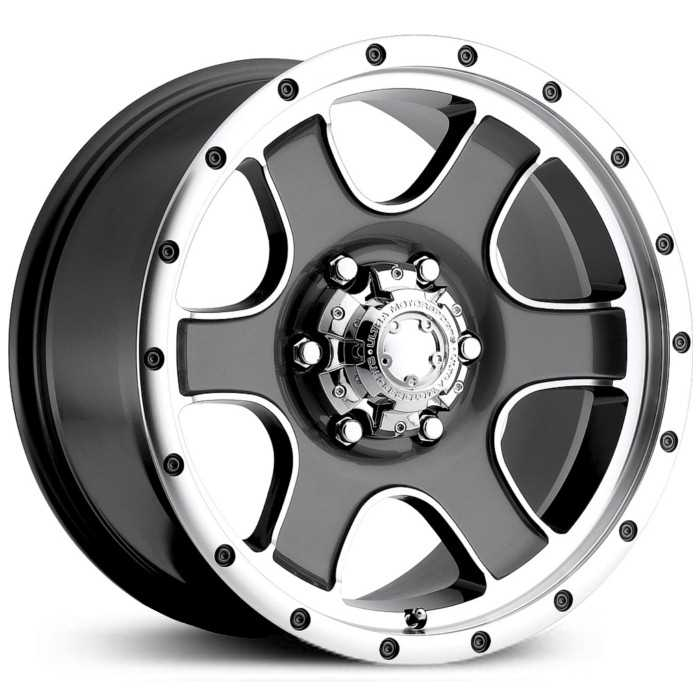 Ultra 174GN Nomad  Wheels Diamond Cut w/ Anthracite Grey