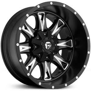 Fuel D513 Throttle  Wheels Black Milled Deep Lip