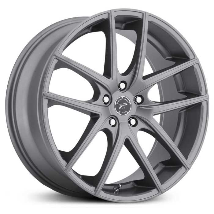 Platinum 412GN Opulent  Wheels Satin Graphite Grey w/ Satin Clear-Coat
