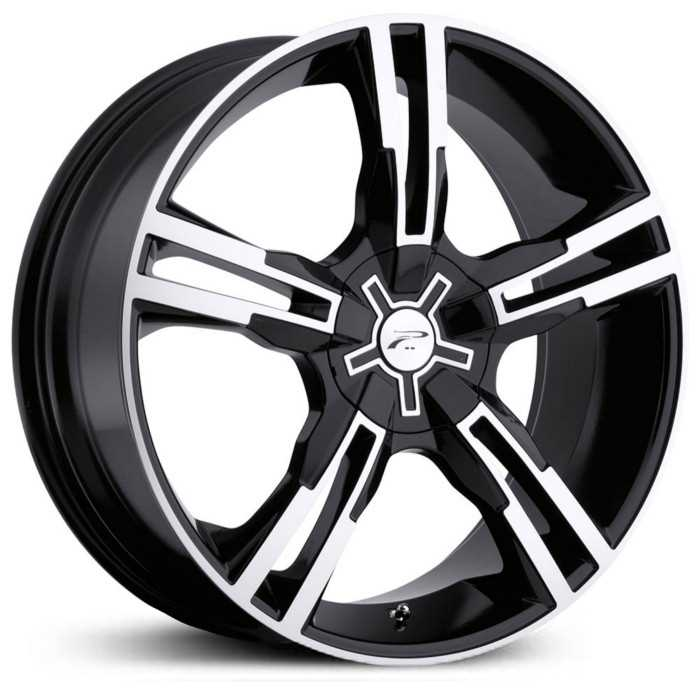 Platinum 292B Saber Fwd  Wheels Gloss Black w/ Diamond Cut & Clear Coat