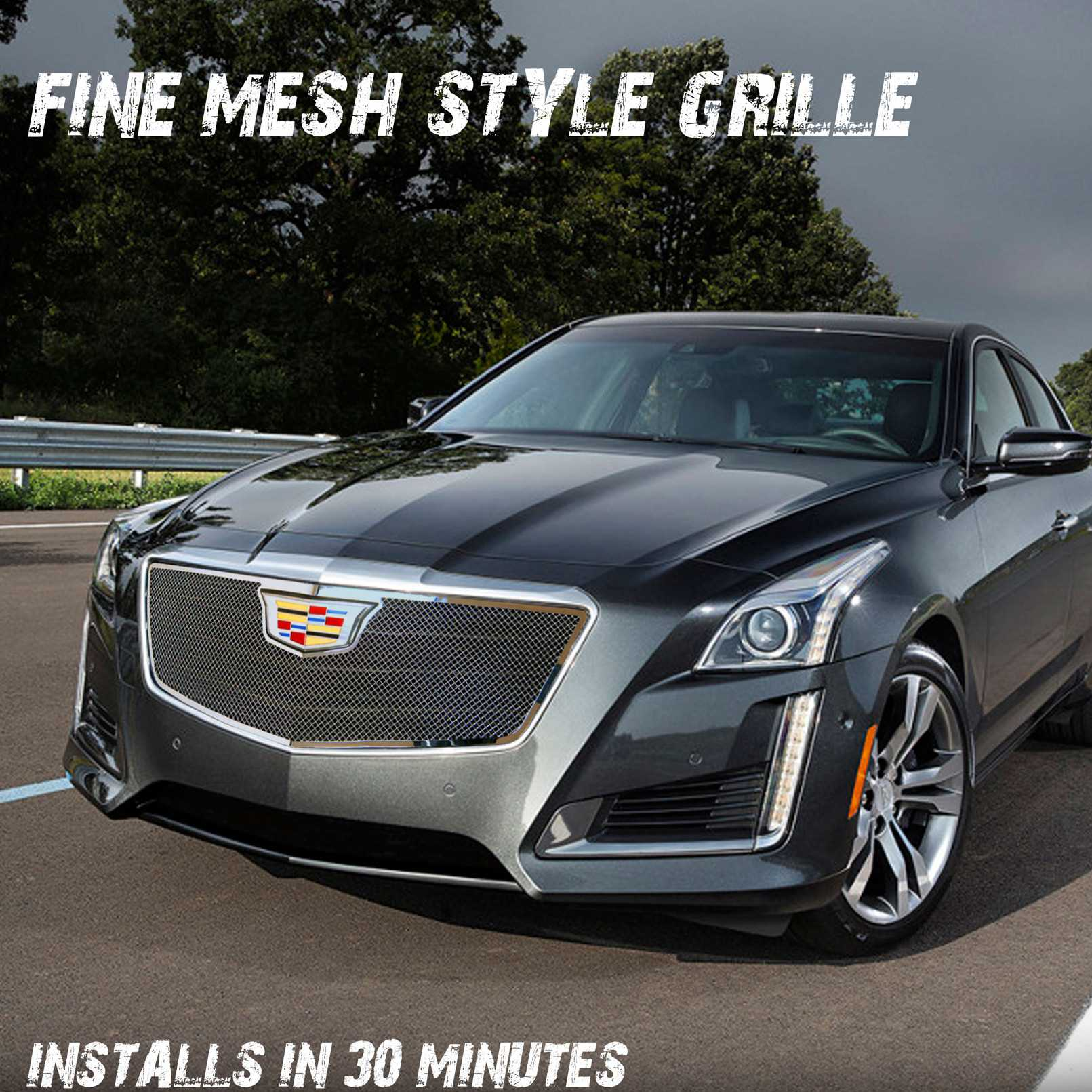 E g classics 2015 2016 cadillac cts grille classic fine mesh grille upper only 1007 010u 15o
