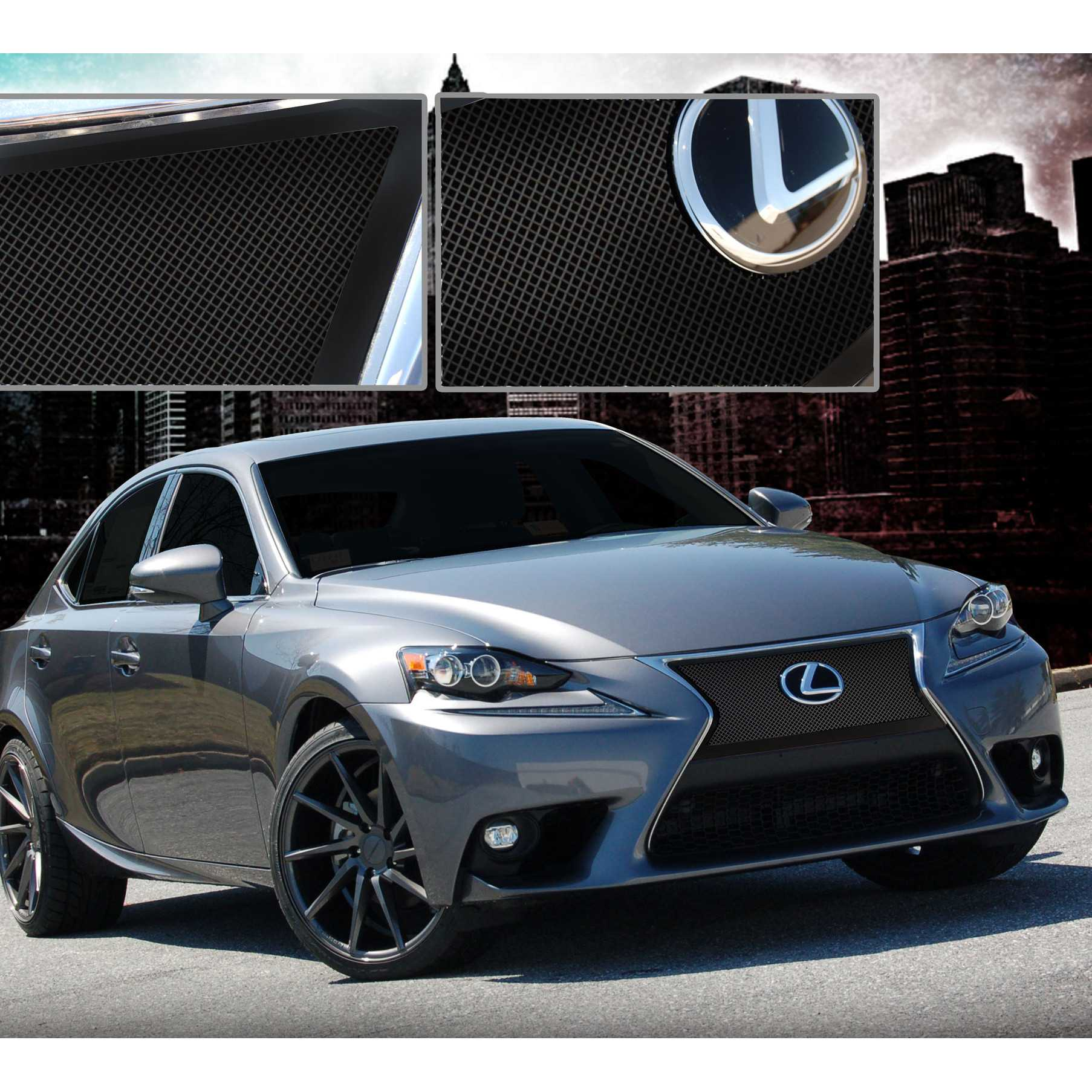 e g classics 2014 2016 lexus is 250 grille black ice fine. Black Bedroom Furniture Sets. Home Design Ideas