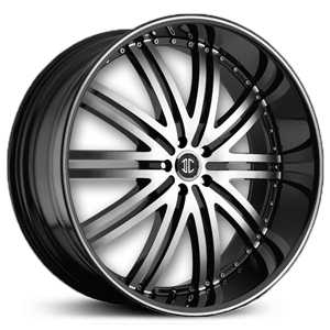 28x9.5 2CRAVE No.11 Glossy Black/Machined Face & Stripe RWD
