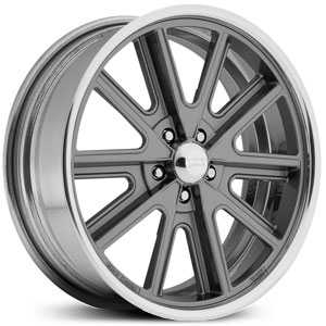American Racing Vintage VN407 Shelby Cobra Sl - 2 Piece  Wheels Mag Gray Center Polished Rim